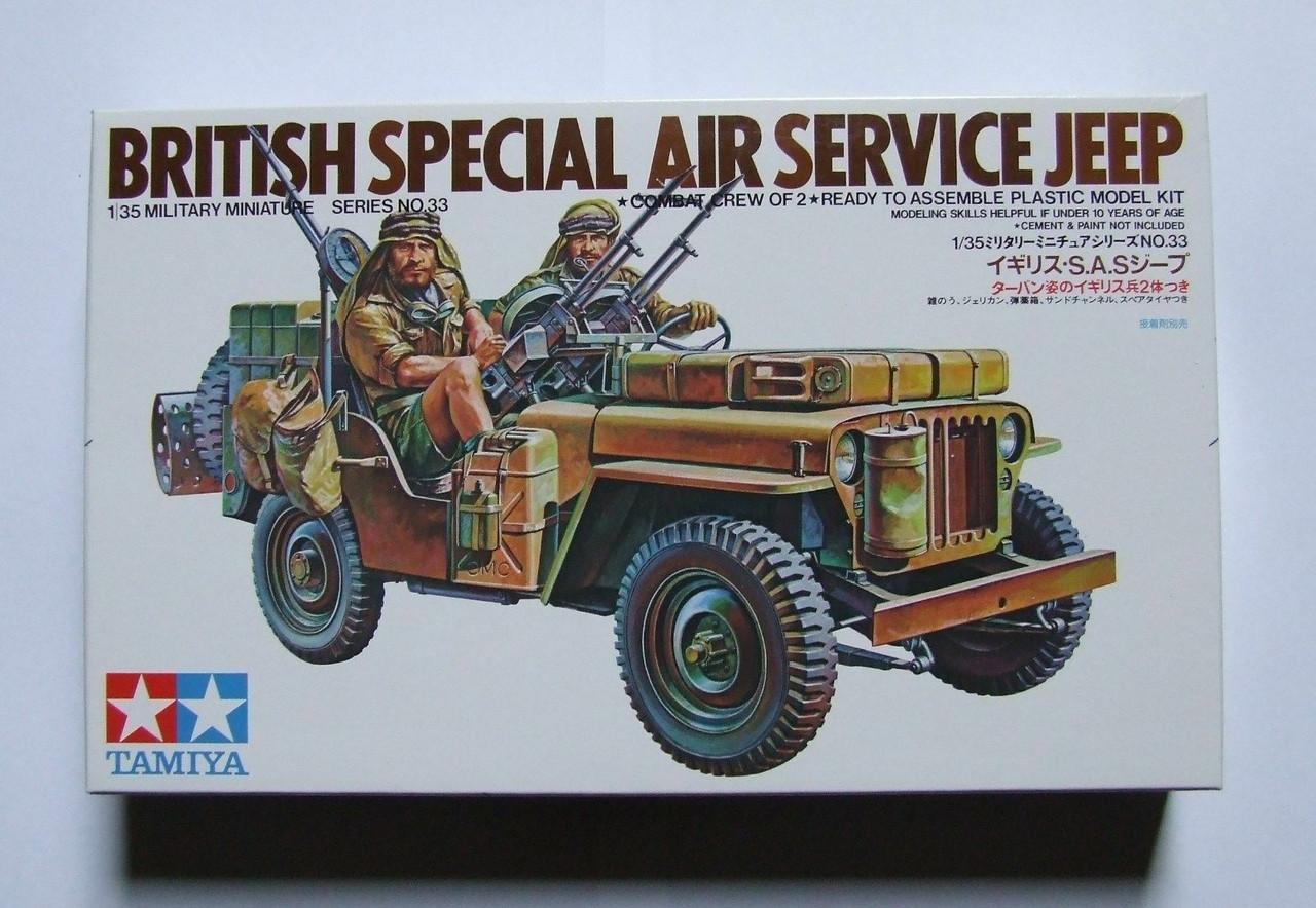 Tamiya 1/35 British Special Air Service Jeep model kit, Brand New