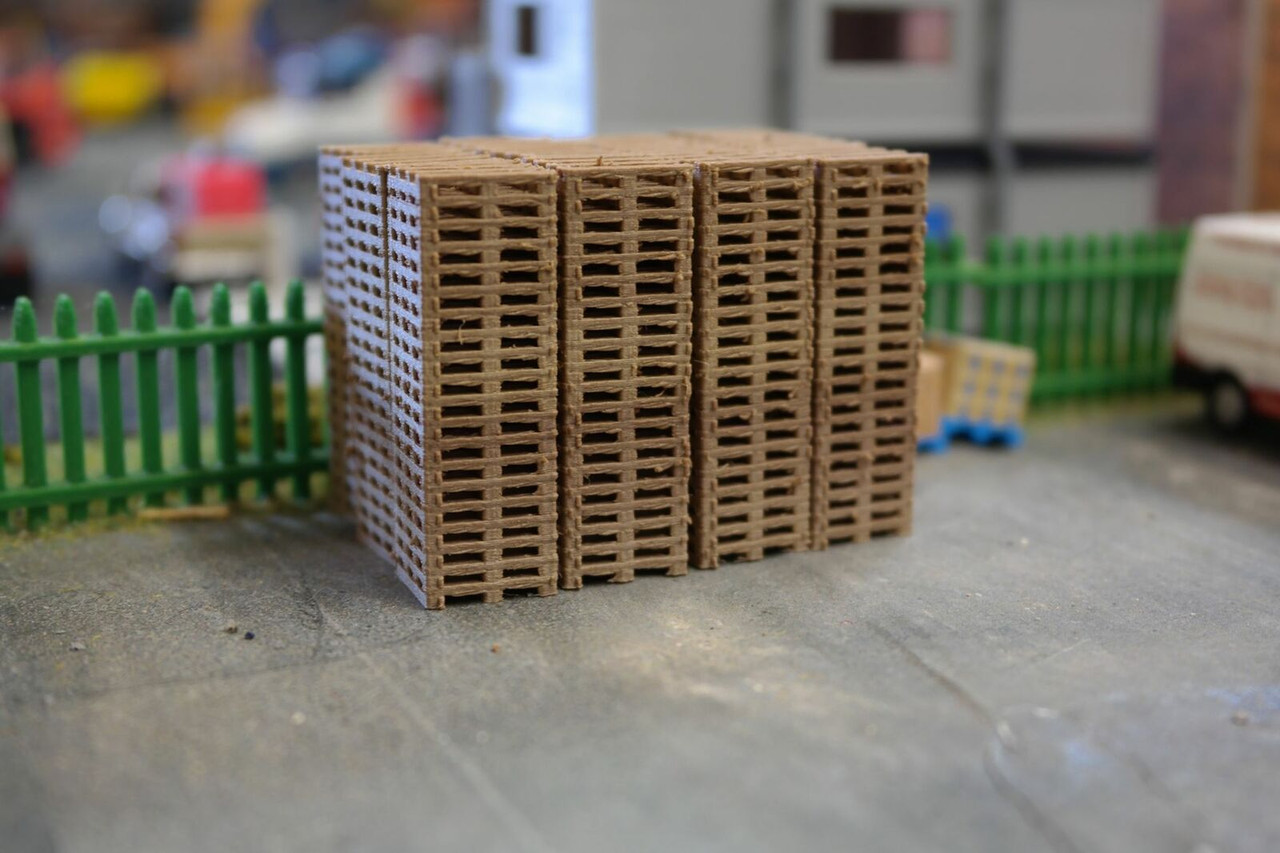 1.76 3D Printed Wooden Pallet Stacks 20 high (real wood) - 6 pkt