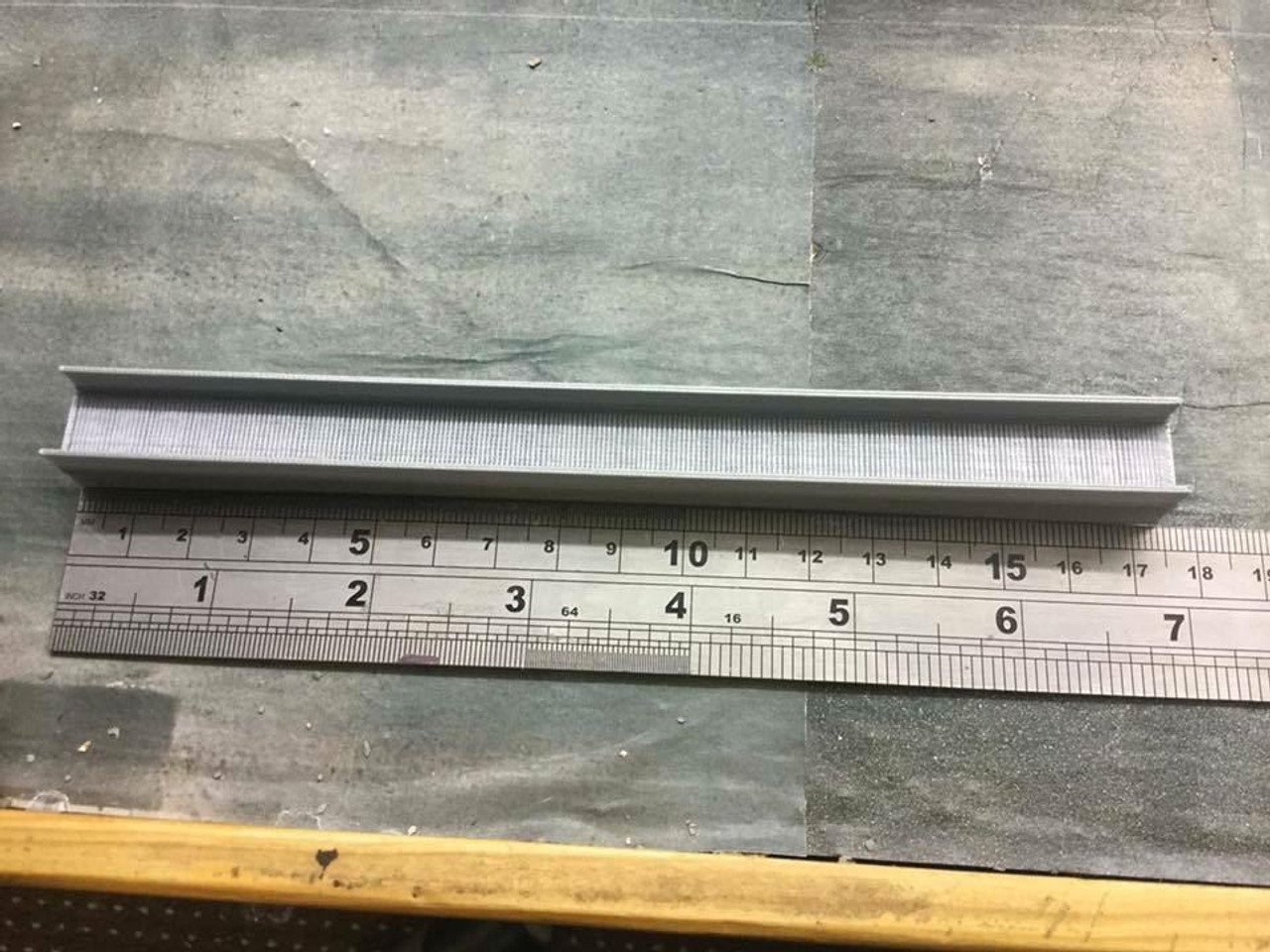 1/76 00 Gauge 3D printed Steel H beams (large)