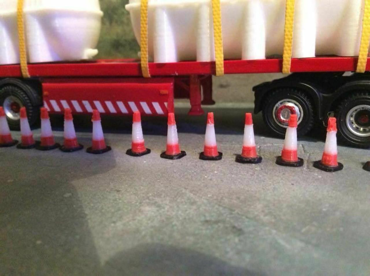 1:76 3D Printed Traffic cones - 15pkt
