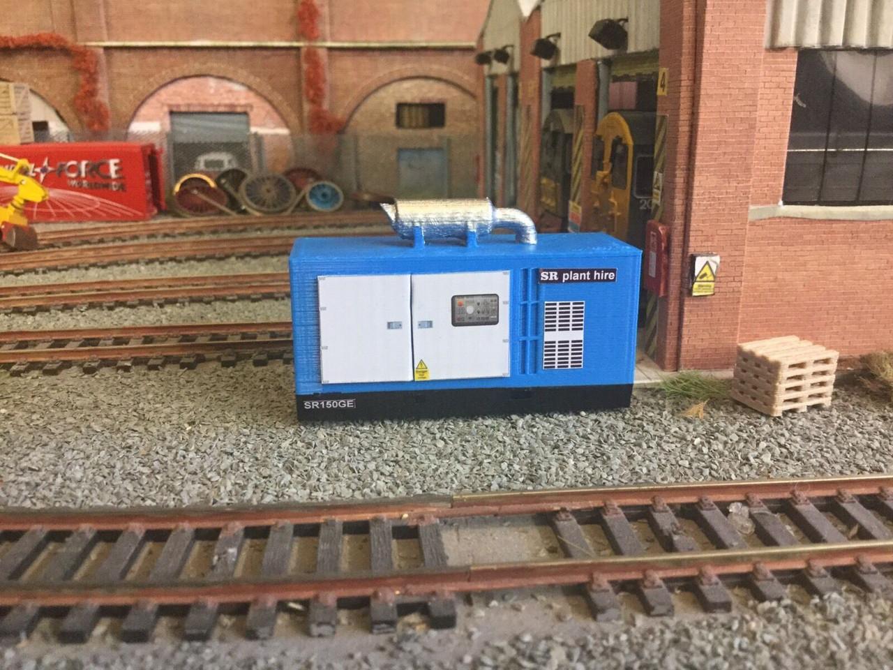 3D Printed  Generator ,Suit 1/76 scale & 00 Gauge. (Blue)