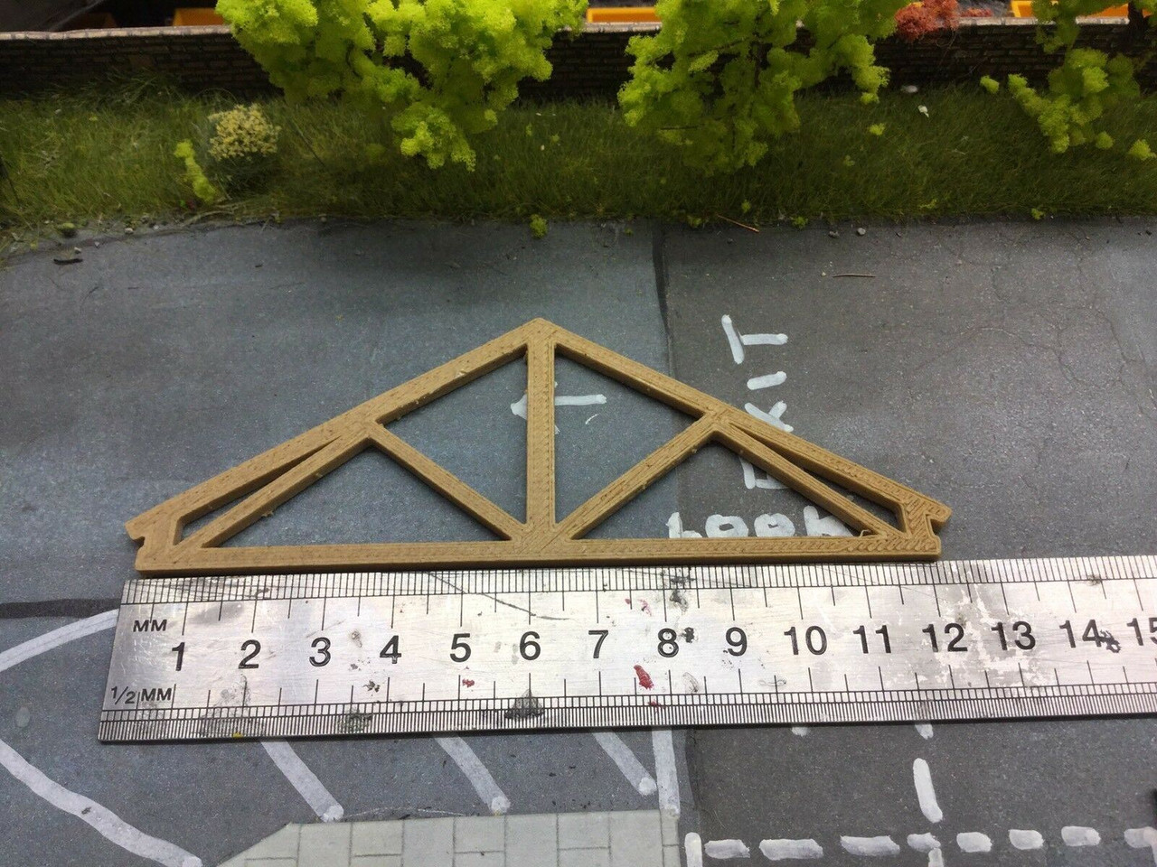 Wood Roof Trusses   ,Suit Oxford diecast 1/76. 1/72 Scale And 00 Gauge