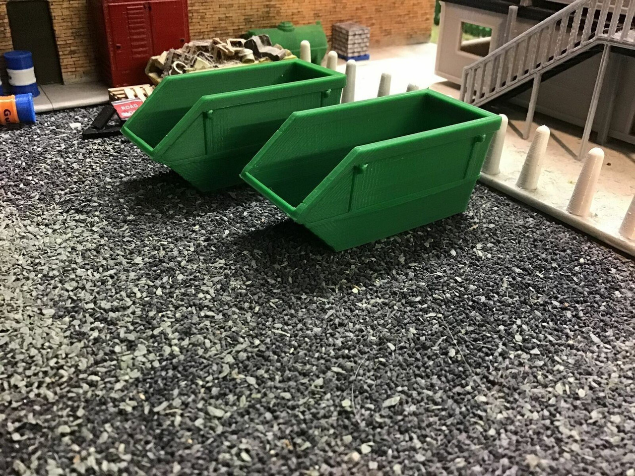 1.76 3D Printed 16 yrd Skip,Green 2 Pack