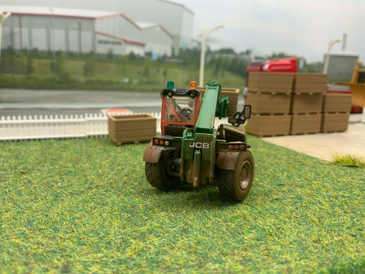 1:76 Oxford Diecast JCB Loadall Clancy plant (WEATHERED)