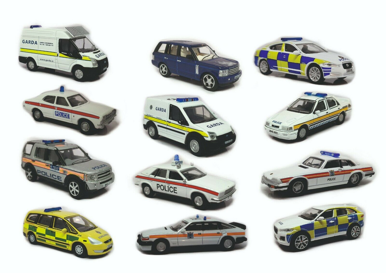 1:76 scale Oxford Diecast Emergency services Vehicles Selection
