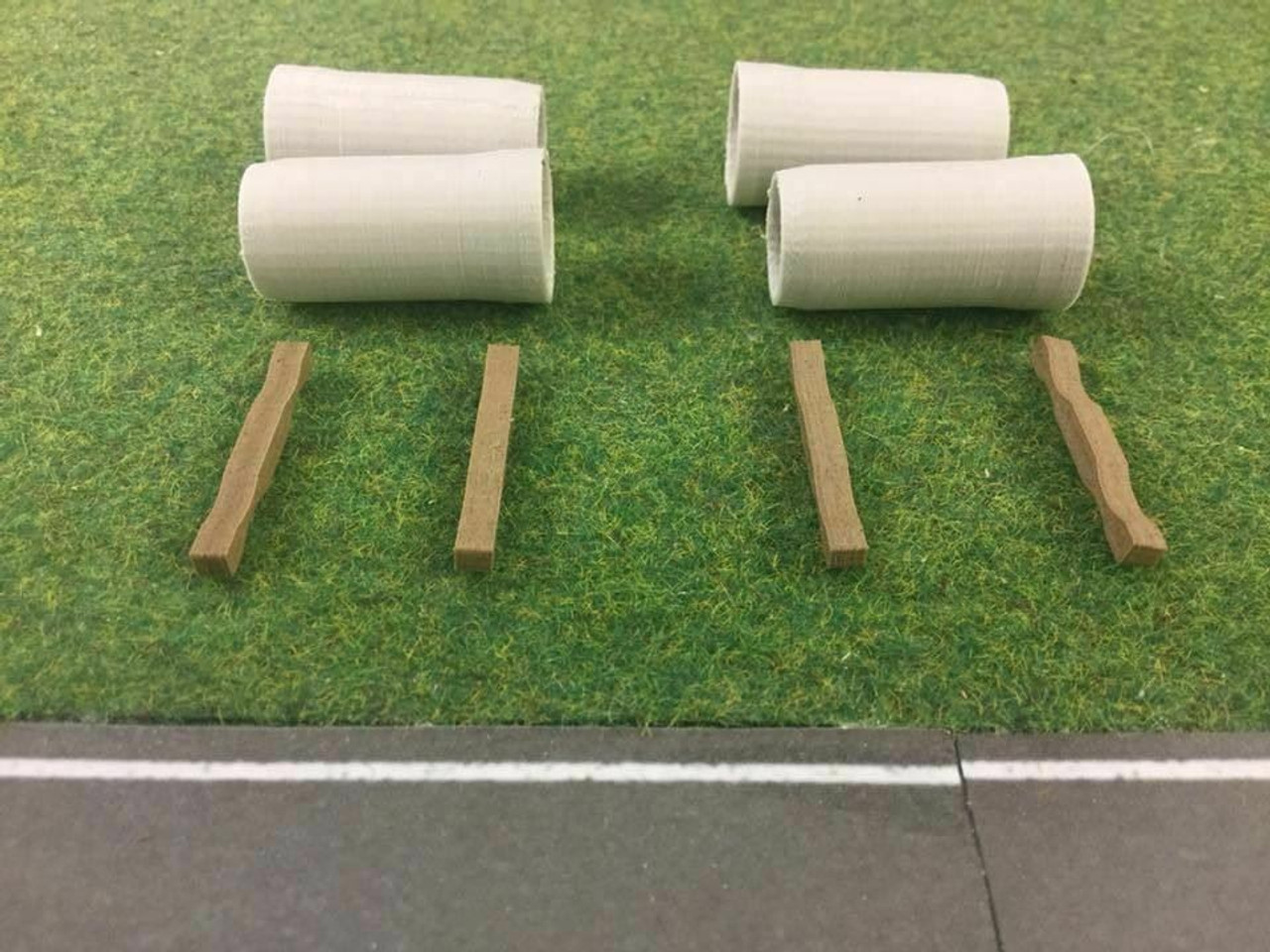 1:76 3D Printed Concrete pipes and batons - 4pk