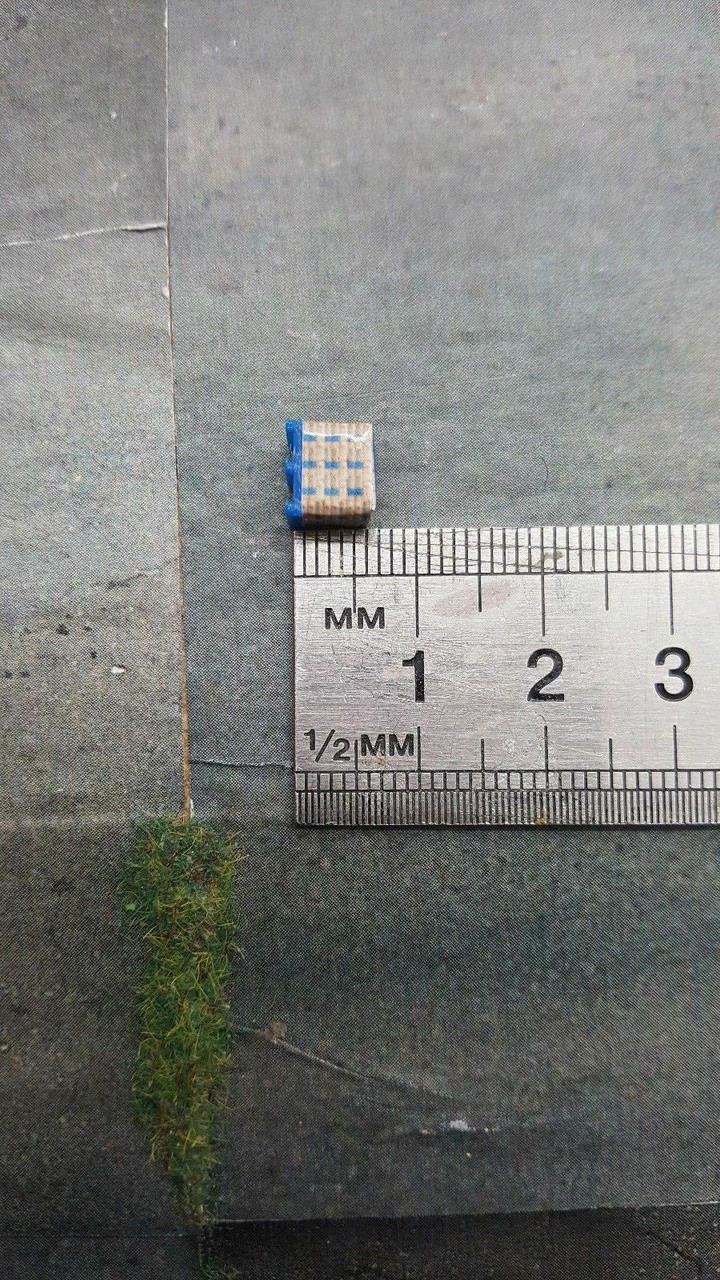 1.148 3d Printed Blue Cement Bag Pallet with load - 20pk