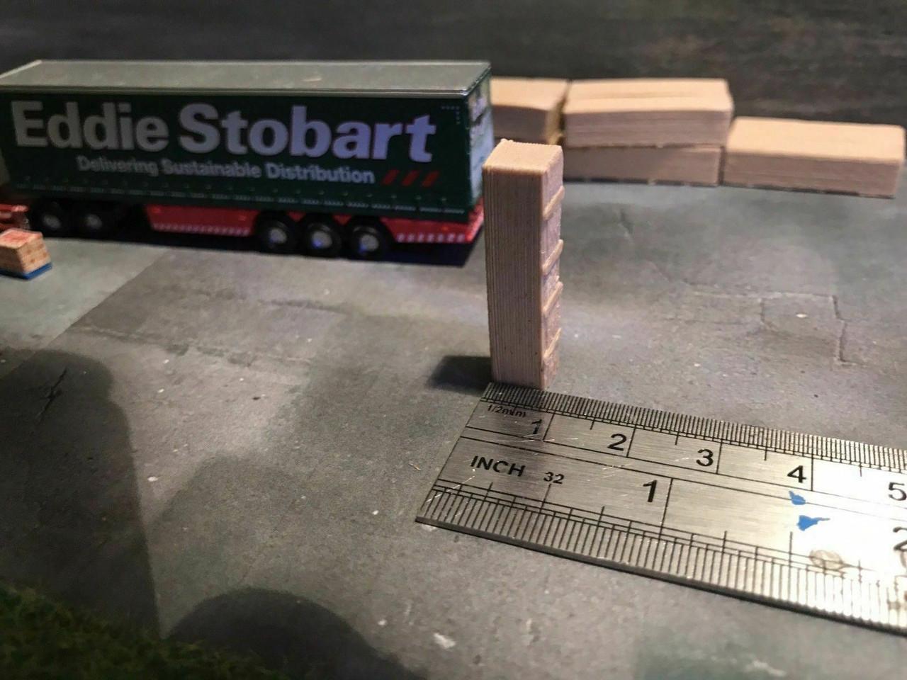 1.148 3D Printed (Real Wood) Wood Stacks - 8pk