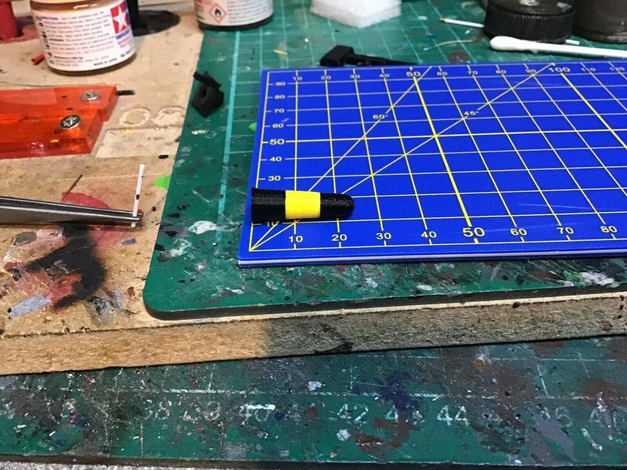 1:50 3D printed Black & Yellow Bollards  pack of 6