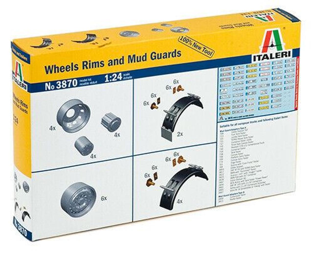 Italeri 1:24 3870 Wheels Rims and mud guards