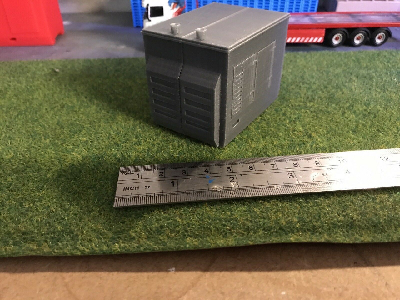 1/50 Scale 3D Printed Fairground Lorry Generator. (Grey)