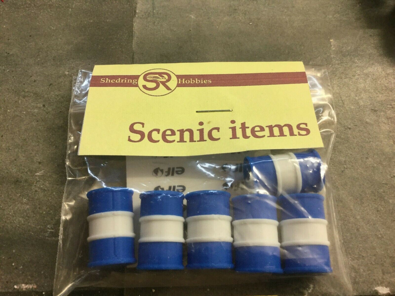 6X 3D Printed 1/43 Scale Blue & White Oil Barrel elf, Accessories, Load, Diorama