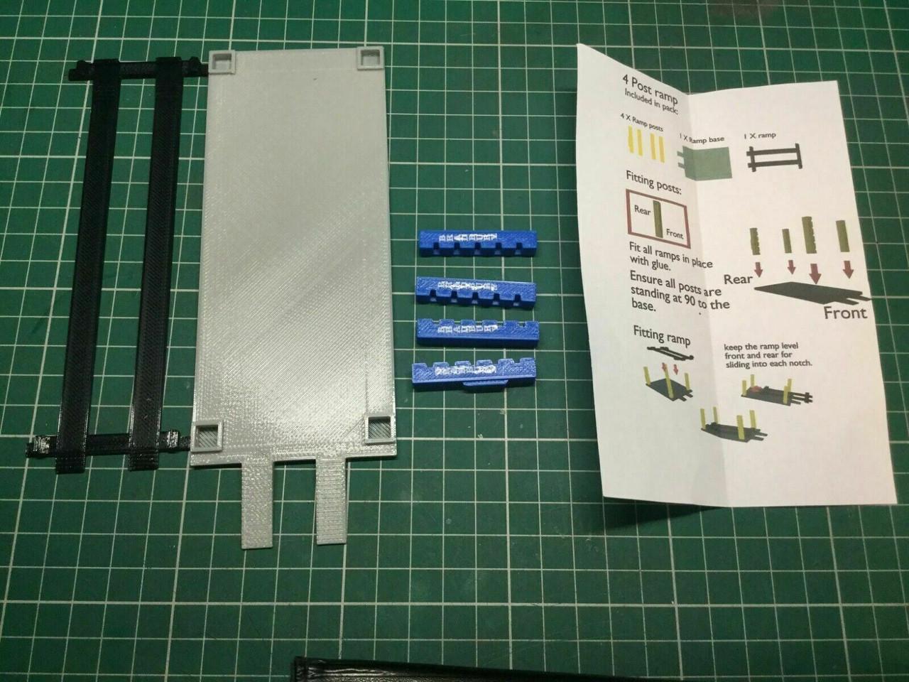1:76 Scale 3D Printed HGV 4 Post Ramp