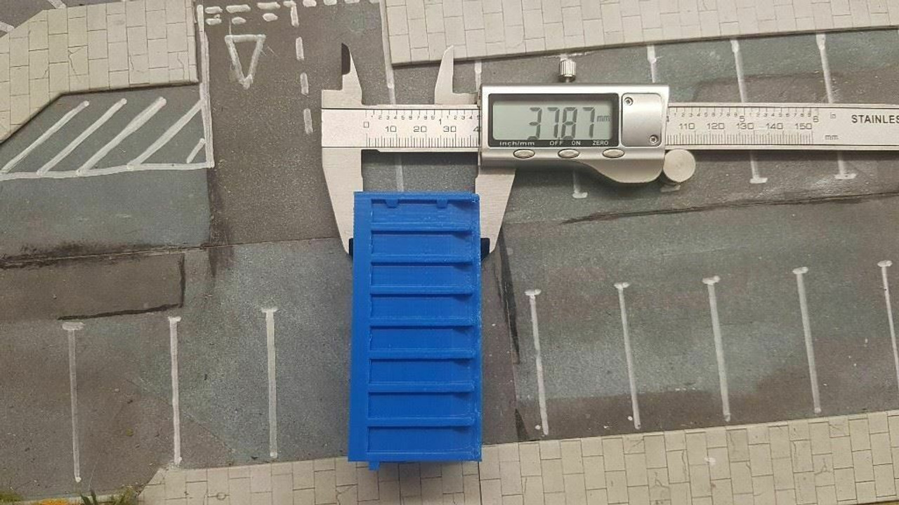 1:76 3D Printed Blue Skip