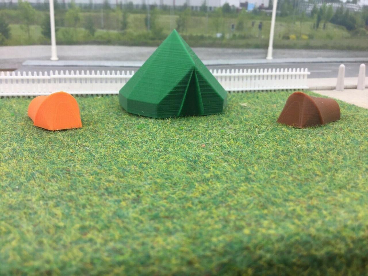 Tents 3 pack, 3D Printed 1/76 00 Gauge  (type2)