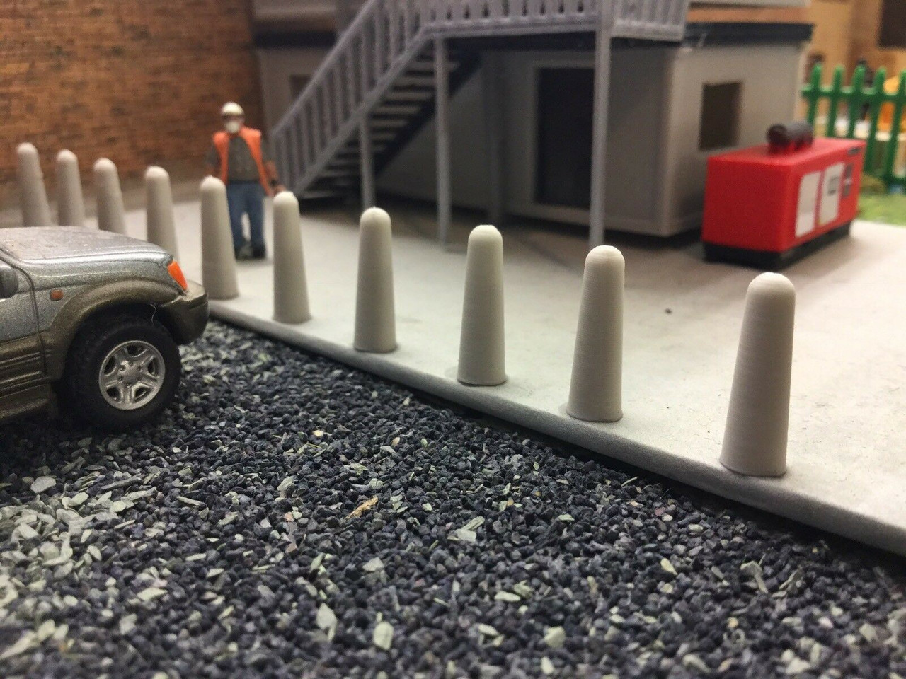 1:76 3D Printed concrete Bollard