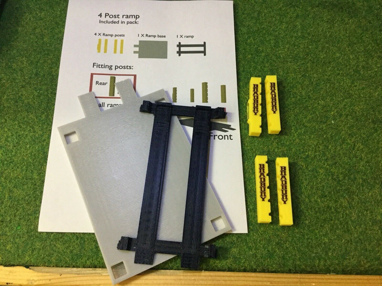 3d Printed 4 Post Ramp Would Suit 1/76. 1/72 Scale And 00 Gauge