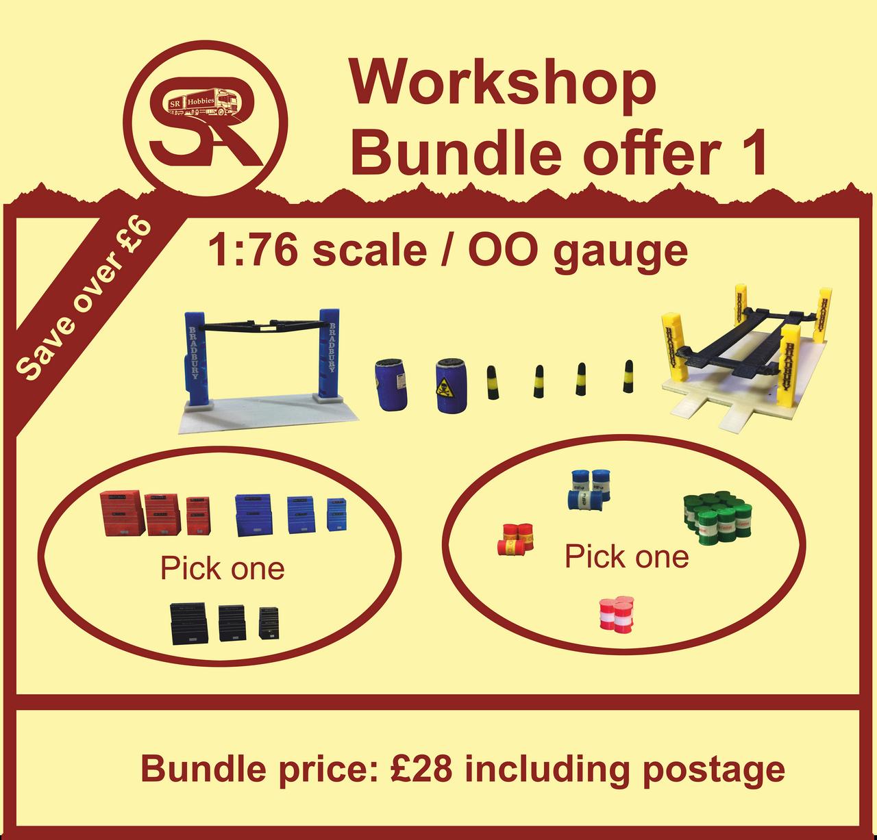 1:76 Scale SR Workshop bundle
