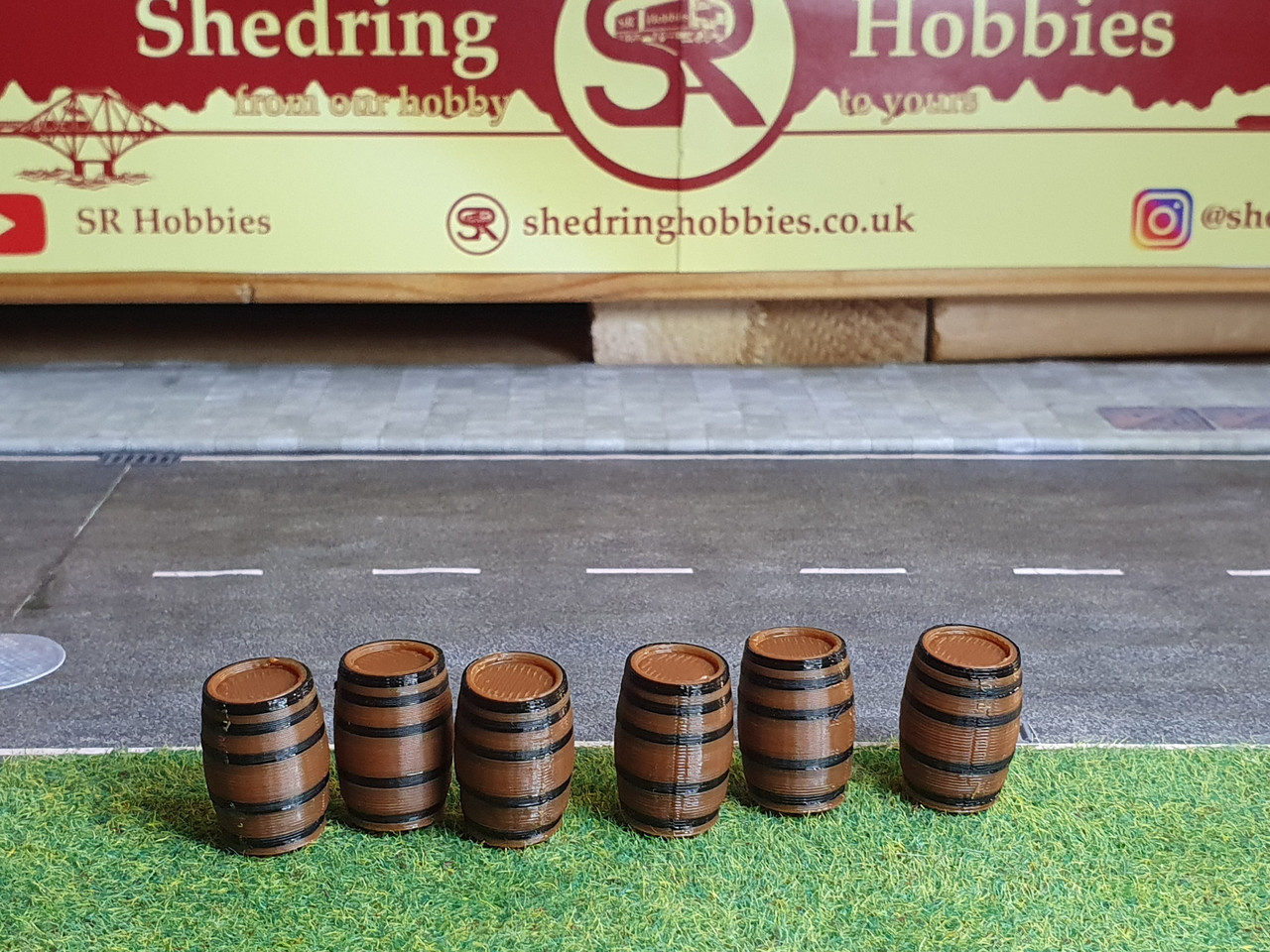 1:50 scale 3d printed Whisky Barrels . 6 In A Pack