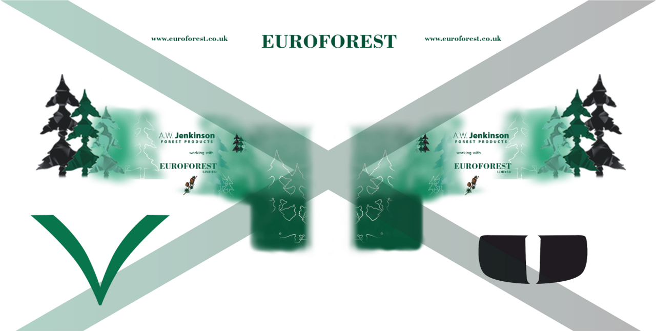 1:76 Jenkinson Euroforest Decals for Oxford diecast Scania