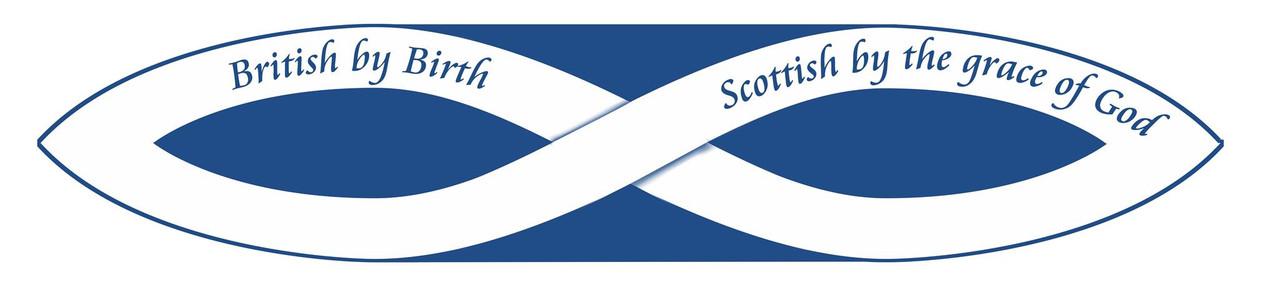 Scottish by the grace of God bumper sticker