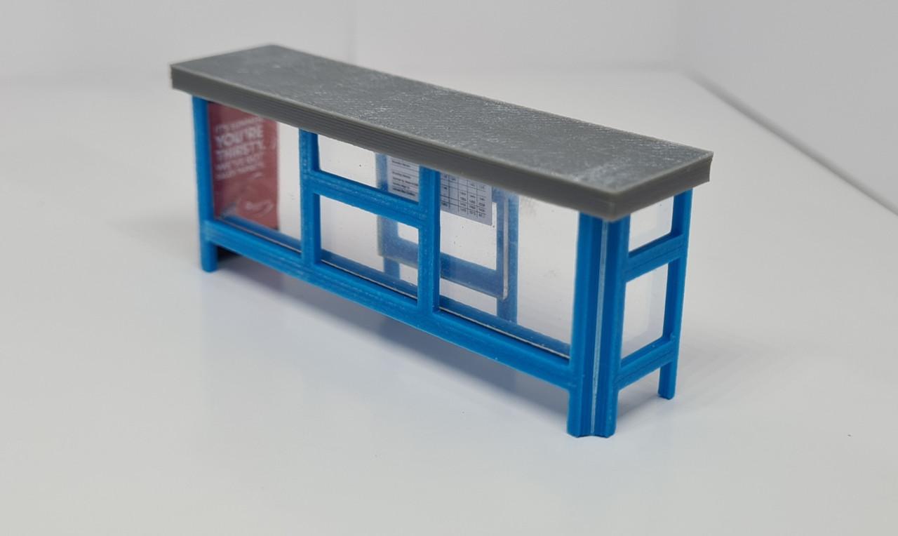 1:76 scale SR Hobbies 3D printed bus shelter