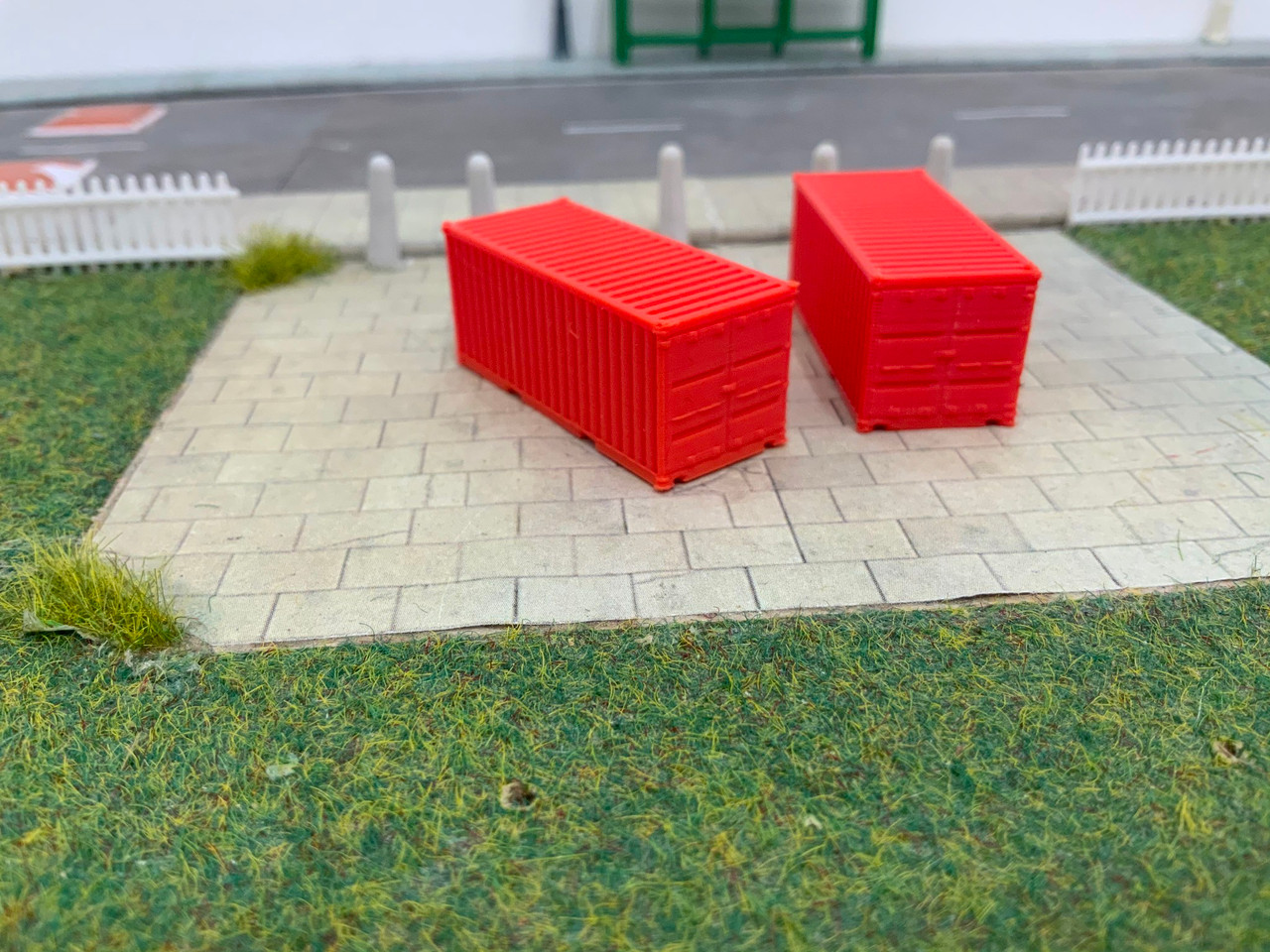 N scale SR Hobbies 3D printed 20ft red container 2pk
