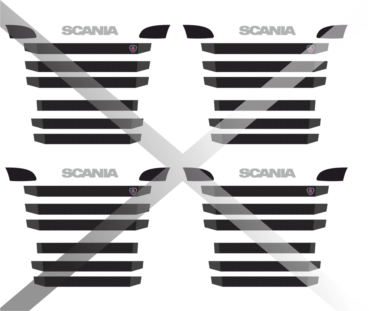 1:76 Scania Replacement grills