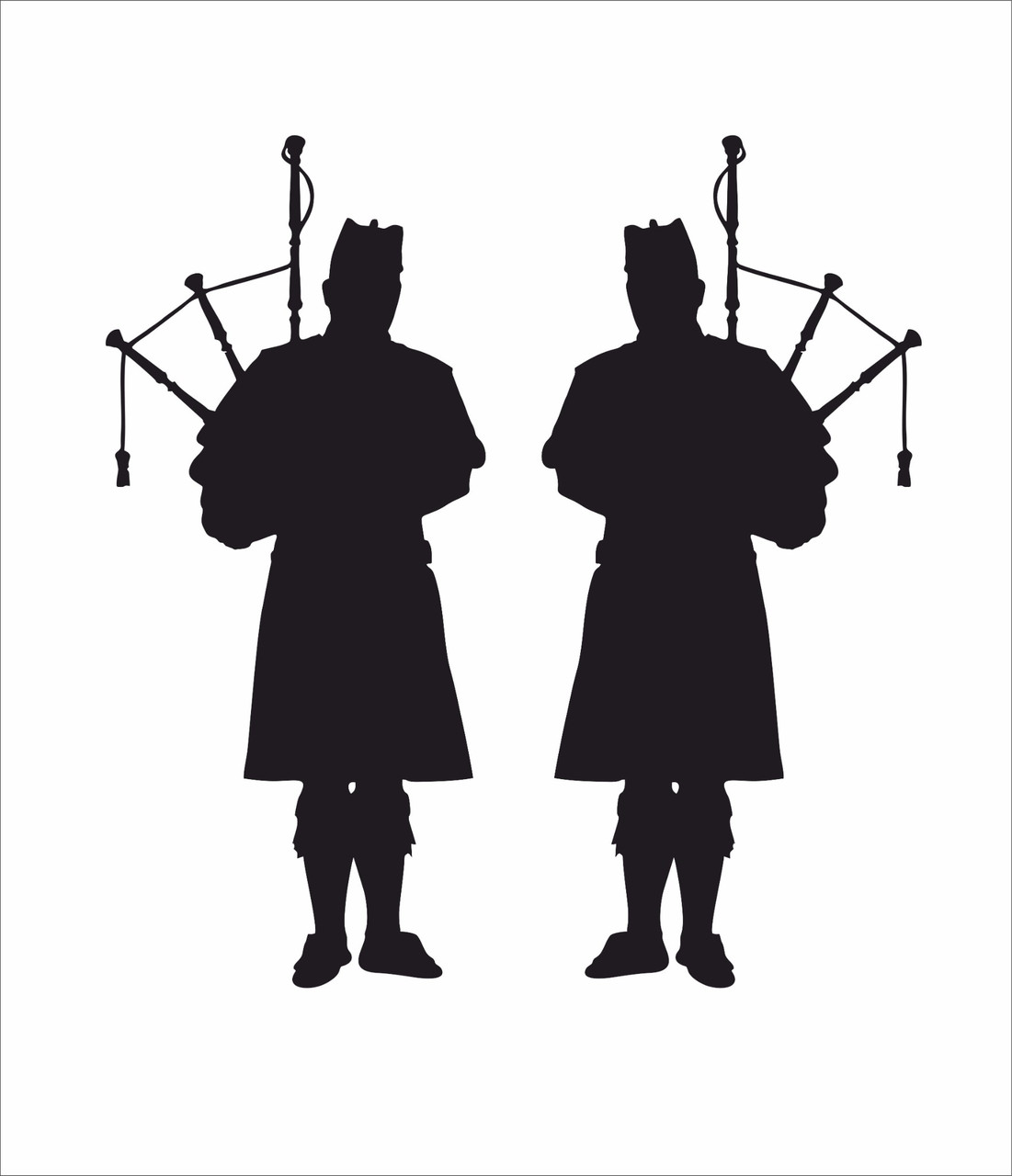 """""""Scottish Pipers"""" Truck stickers (Pair)"""