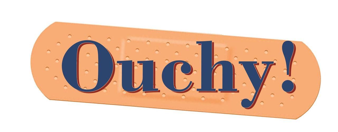 Ouchy! car Sticker