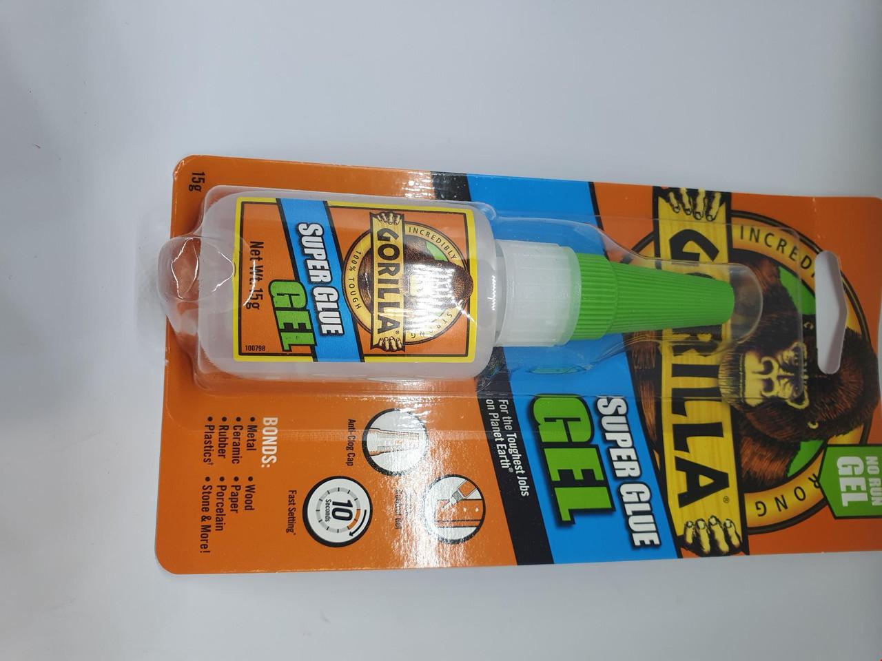 Gorilla super glue Gel 15g bottle