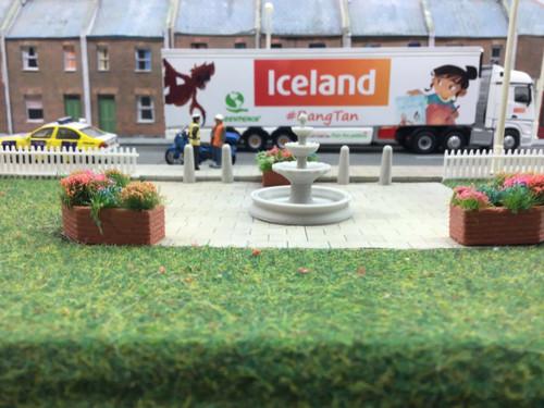 00 gauge /1:76 scale 3D printed fountain (Concrete PLA)