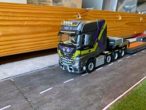 Code3 WSI 1:50 Explore Transport  Actros MP4 Giga Space & WSI lowloader trailer