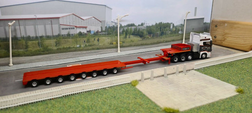 1:76 Oxford Diecast Scania Topline Nooteboom Low loader Smiths, Bridgend