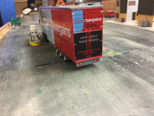 1/76.3D Printed Double Deck  Trailer  1/72 00 Gauge .Home Bargains.