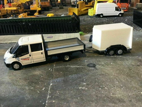 3d printed Box trailer would suit 1/76 oxford diecast and 1/72 scale (00 gauge)