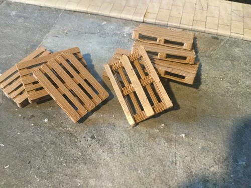 1/43 scale, 0 gauge 3d Printed Single Pallets (wood) 10 pack.