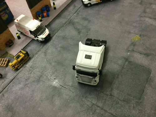 1/76 oxford diecast plain white scania