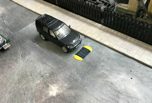 1:76 3D Printed Speed Bumps - 6pkt ( self adhesive)