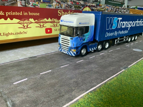1/50 scale Code3 Cararama Scania & Trailer W.S  transport
