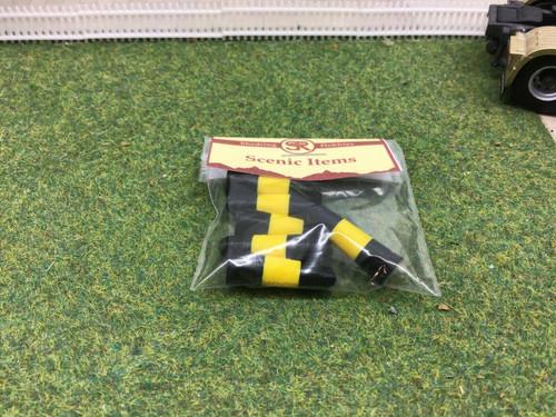 1:50 3D printed Black & Yellow Bollards  pack of 12