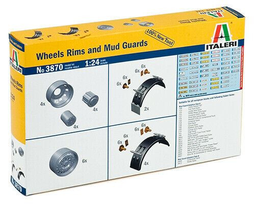 Italeri 1:24 3870 Wheels Rims and mud guards