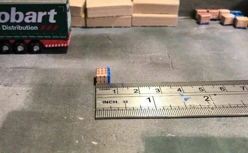 1.148, N Scale 3D Printed Red Cement Bag Load - 20 pk
