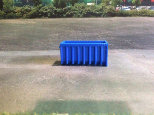 1.148 3D Printed Blue skips - 2pk