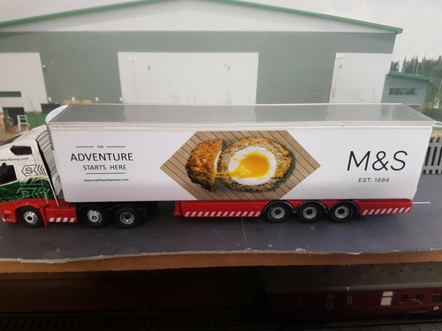 1/76 Code3 M&S Scotch egg decals For Oxford diecast Box Trailer