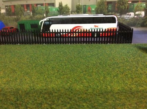 1/76,00 Gauge 3d Printed Security Fence (Black) 6 pk
