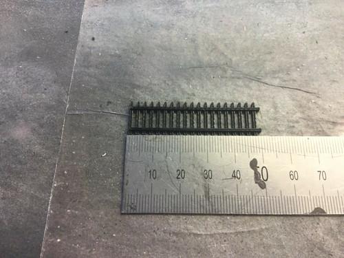 1:148 N Gauge 3d Printed Black Security Fence 6pk