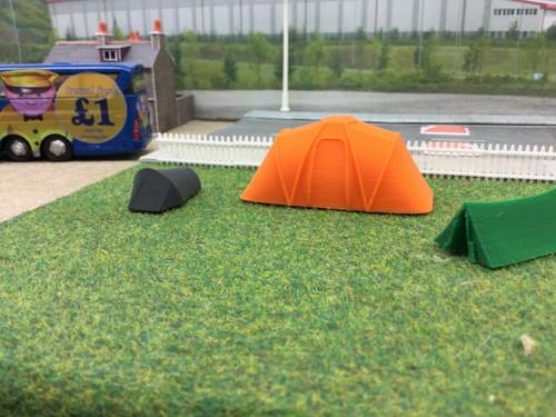 3d Printed Tents 3 pack   1/76 00 Gauge  (type1)