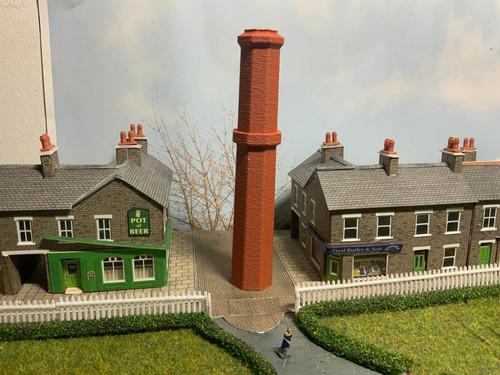 N Gauge 1:148 Scale Industrial chimney stack, Terracotta