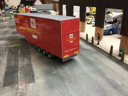 3D Printed 1/76 Double Deck  Trailer  1/72 00 Gauge . Royal Mail
